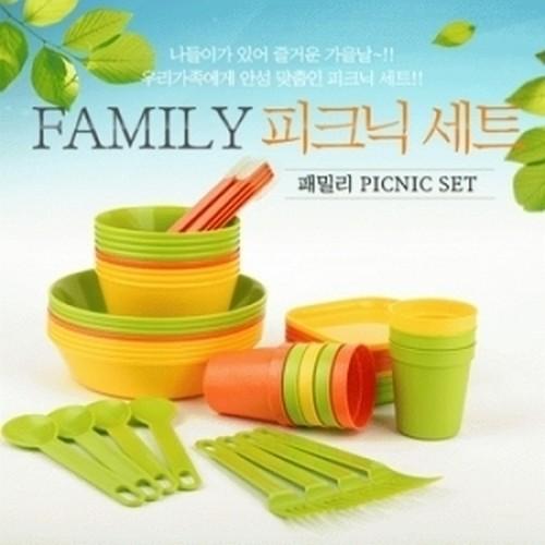 친환경제품]사탕수수로 만든 캠핑용 피크닉식기세트 50pcs