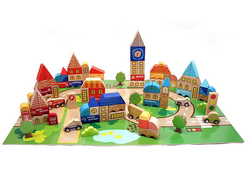 여러가지 테마의 도시를 꾸밀 수 있는 최다 구성 블럭 놀이로 소방서건물, 경찰서건물, 커피숍건물, 장난감건물 등 다양한 테마를 꾸미면서 즐겁게 역할놀이도 하며 놀 수 있습니다.